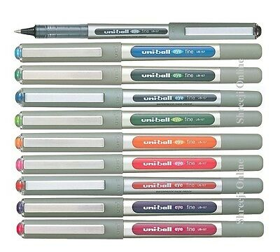 Uni-Ball EYE UB-157 Rollerball Pen Medium 0.7mm Ball - Pack of 10 Colour Uniball
