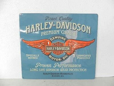 OEM Harley-Davidson Genuine Duty Metal Tin Sign Embossed New Garage Bar Shop