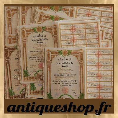 Lot of 69 Shares RailRoad of Gafsa