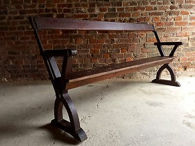 Fabulous Antique Bench Pew Pitch Pine Victorian19th Century Rustic Swivel Seat 2