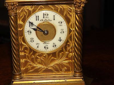 Pendulette de voyage ou d'officier - Carriage clock - Charles Oudin