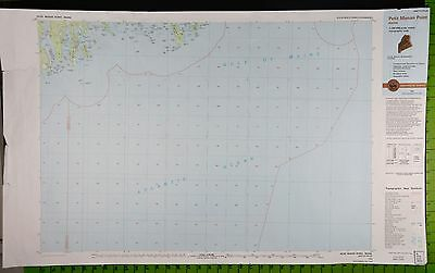 Petit Manan Point Maine Massive Topographic Map 25x40 Inches