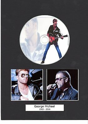 Framed George Michael Mounted CD - Limited Edition