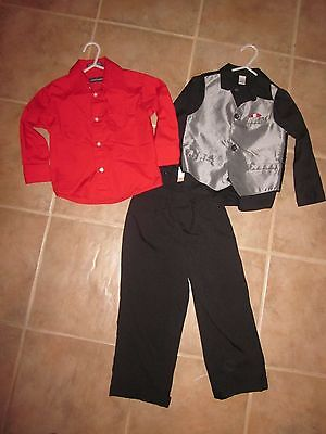 Boys George Suit Set And Dockers Dress Shirt Formal Wedding Size 4T