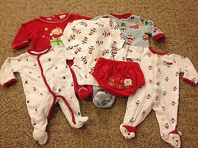 Baby unisex 6-piece Christmas lot size Newborn First Christmas