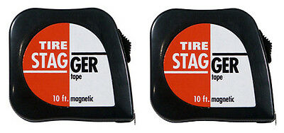 Race Car 10' Tire Stagger Tape Measure - 2 Pack  #1166