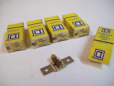Square D 1-B25 Overload Relay Thermal Unit - Lot Of 5 - New - Free Shipping