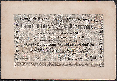 Germany, Prussen 5 Thaler 1824 P-S397 UNC BANKNOTE RARE