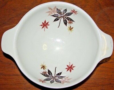 RARE Vintage Peter Terris Calico Leaves Small Handled Heavy Bowl T 14 NICE MCM