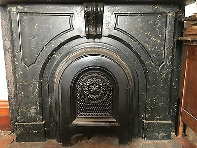 3 antique 19th century slate fireplaces with iron grates faux marble