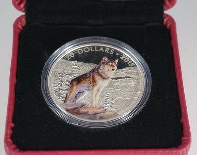 2015 $20 Fine Silver Coin - Imposing Alpha Wolf - Royal Canadian Mint