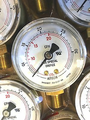 HARRIS Argon CO2 Flow Gauge Regulator 60 PSI, 50mm, 1/8 NPT NEW