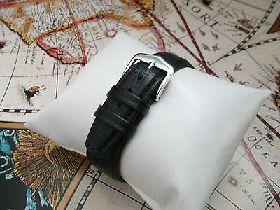 OMEGA HIRSCH STYLE CALF LEATHER BLACK WATCH STRAP/BAND 16 17 18 19 20 21 22 mm