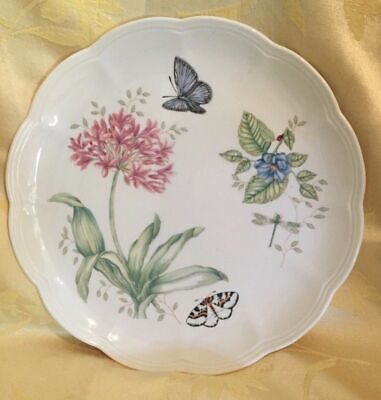 Lenox Butterfly Meadow Bone Porcelain China Dinner Plate  Eastern Tailed Blue