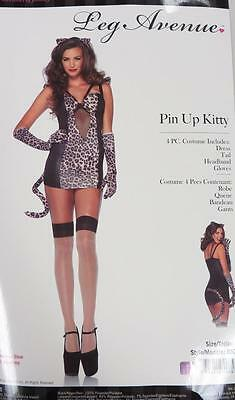 d74dd149e8a Pin Up Kitty Cat Leopard Wild Animal Fancy Dress Up Halloween Sexy Adult  Costume