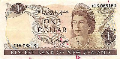 New Zealand  $1   ND. 1985  P 169b  Series AHG circulated Banknote SP23