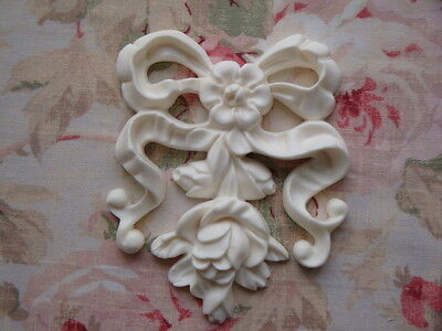 NEW! French Bow ~ Roses & Rosebuds Center Furniture Applique Architectural
