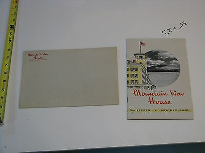 Vintage 1950's (?) Mountain View House Whitefield NH Brochure White Mtns Hotel