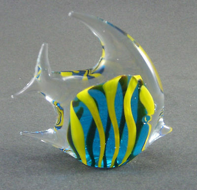 """Antique Glass: Marked Alpha 3.5"""" X 3.25""""  Tropcal Fish Handcrafted"""