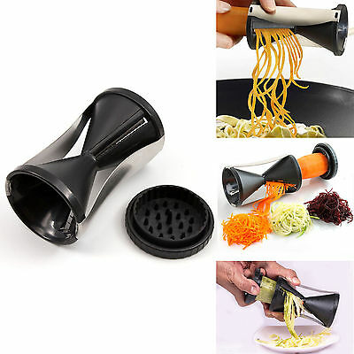 New Spiral Slicer Cutter Kitchen Tool Vegetable Fruit Spiralizer Twister Peeler