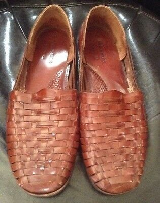 1bf814dfccf24 Nordstrom Handwoven Brown Leather Huaraches Sandals Shoes Mens Size 15 Euc