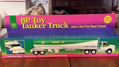 Bp Toy Tanker Truck 1994 Limited Edition Super 93 Fuel W/ Box Nib Lights & Horn