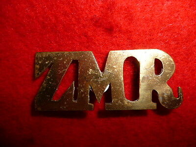 Zululand Mounted Rifles Edwardian Cut-out Shoulder Title, 1906 Zulu rebellion