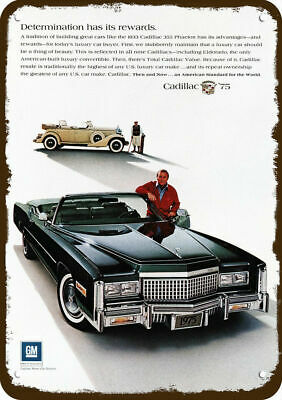1975 CADILLAC ELDORADO Convertible Car Vintage Look Metal Sign - ARNOLD PALMER
