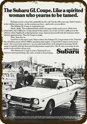 1973 SUBARU GL COUPE SPORTS CAR Vintage Look Replica Metal Sign