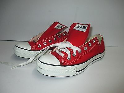 NEW vintage CONVERSE ALL STAR RED LOW SHOES MADE IN USA MENS SIZE 6.5 WOMENS 8.5