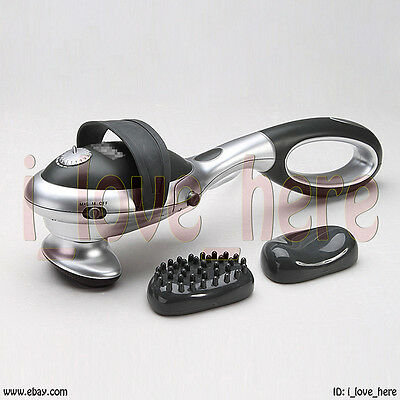 Removable Handheld Full Body Massager Vibrating Percussion Neck Infrared Heat