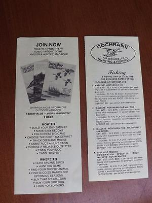 Cochrane Air Service Travel Brochure Hunting Fishing Kesagami Lodge Canada 1984