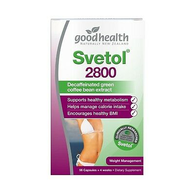 New Good Health  Weight Management Supplements  Svetol® 2800  Size: 56 capsules