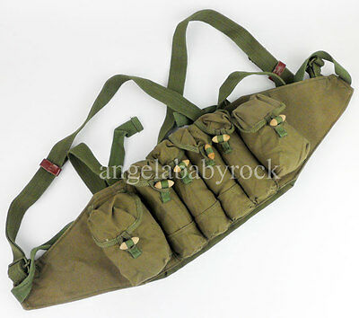Surplus Chinese Pla Type 79 Chest Rig Ammo Pouch Canvas Bag-0194
