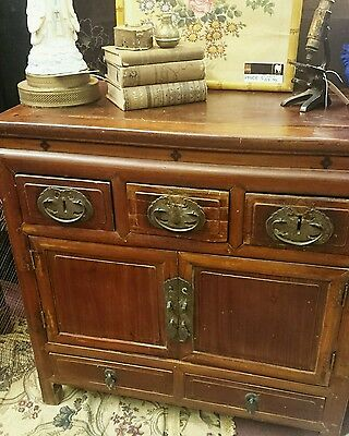 Chinese Oriental Jiangxi Chinoiserie Asian Chest Cabinet