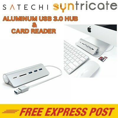 Satechi Aluminium 3 Port Usb 3.0 Hub & Card Reader