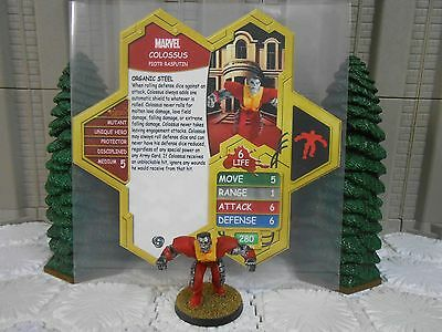 Heroscape Custom Colossus Double Sided Card & Figure w/ Sleeve Marvel