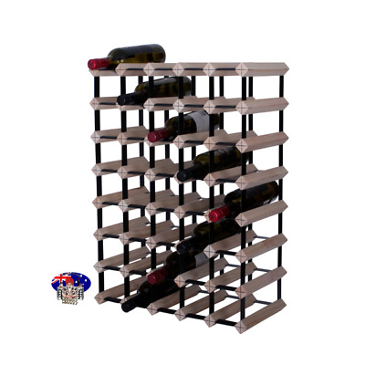 40/42 Bottle Timber Wine Rack - NATURAL PINE - Free Postage- Wine Storage