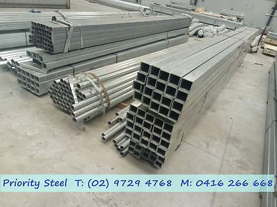 6m Long Steel!!! Galvanised Square Post / Pipe / Tube For Sale