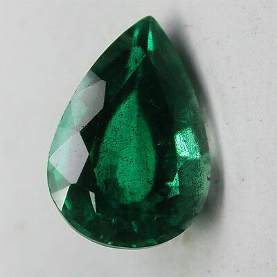 Wow!3.50ct Excellent Doublet Columbian Green Emerald PearShape Cut Gem