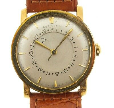 Jaeger Le Coulter 10K Gold Filed Vintage Calender Watch, Mystery Dial