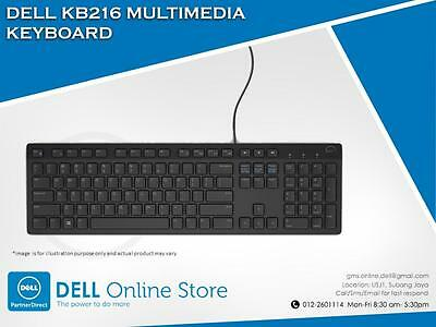 NEW Genuine Dell Multimedia Keyboard English KB216 Wired USB QWERTY COMPUTER