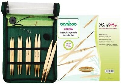 Knit pro Knitting Needle Set Chunky Bamboo 6+7+8+9 + 10mm) 22543