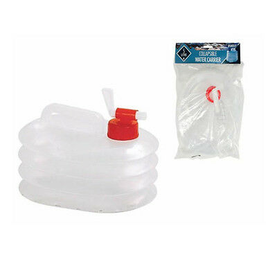 5L 5 Litre Water Container Collapsible Carrier Bottle Camping Storage Handle Tap