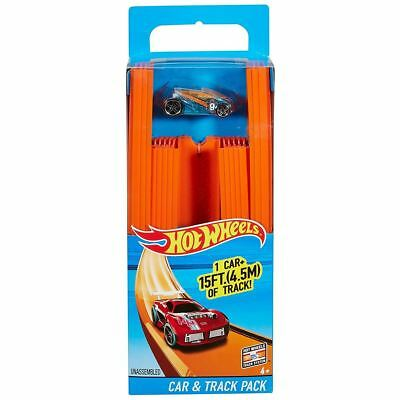 Hot Wheels Car & Track Builder Pack With Vehicle 15ft Track