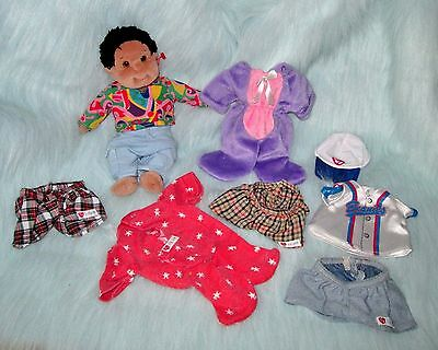 """TY Beanie Kids Rascal 11"""" with Clothes Baseball Outfit Pajamas Bunny Suit 1995"""