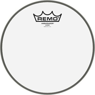 Remo Ambassador Clear/Coated Tom/Snare Head In All Sizes