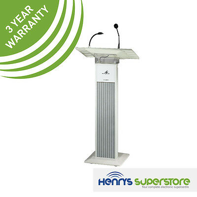 Monacor Ets-840 Active 90W Lectern With Light & Mic School Church Free Delivery