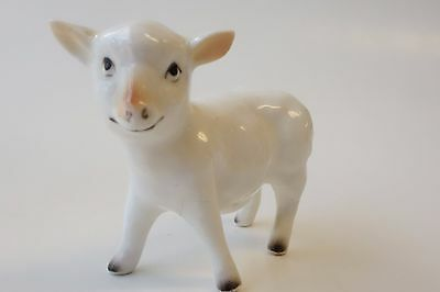 Vintage Miniature Sheep Lamb Figurine Bone China Farm Animal Mini