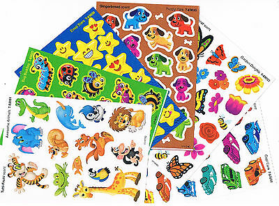 Over 100 x scratch and sniff stickers - 6 assorted scents - Very cute designs